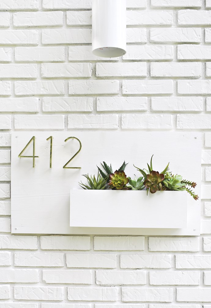 """**Green start** We're in love with this clever DIY planter/house number by the talented Elsie and Emma at lifestyle blog [A Beautiful Mess](https://abeautifulmess.com/