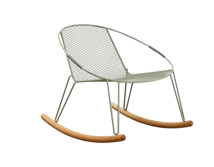 """**Rock 'n' roll** For a relaxing perch on the porch, Tait's 'Volley' rocker by Adam Goodrum,  $1540, fits the bill. Go to [Tait](https://madebytait.com.au/