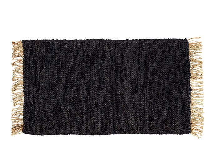 """**On the fringe** Dark woven hemp contrasts with a neutral fringed edge for a warm welcome. Armadillo&Co 'Sahara' hemp entrance mat, $165, at [Life Interiors](https://www.lifeinteriors.com.au/