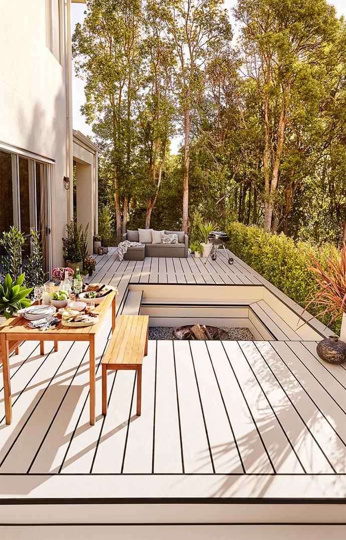 Swap your weathered timber deck and outdated barbecue furniture for a contemporary outdoor room that's beautifully styled and easy to enjoy. *Photo: Supplied*