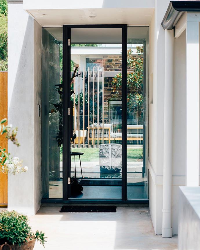 "The Perth Residence was designed to be transparent, with windows peeking into the leisurely courtyard space from different perspectives. ""From the street it looks like a cottage. You go to the entrance and you catch a glimpse into the courtyard space at the back and this transitions through the house. Every room opens out to the courtyard,"" says David. 