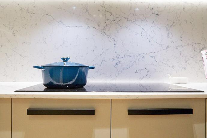 """**Stone splashback – Courtney and Hans**: Some of the [best Block kitchens](https://www.homestolove.com.au/the-blocks-best-kitchens-5739