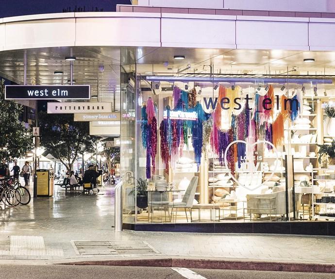 **Showcase** Rachel worked her magic by creating a custom installation at west elm Bondi.