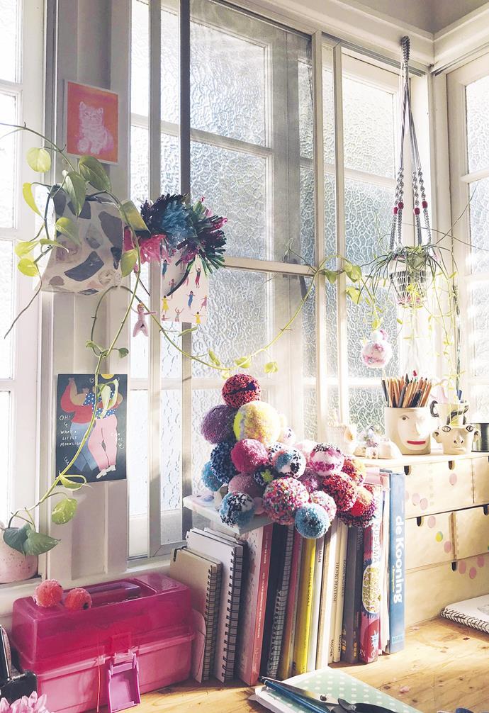 **Peek inside** A look inside Rachel's Brisbane studio.