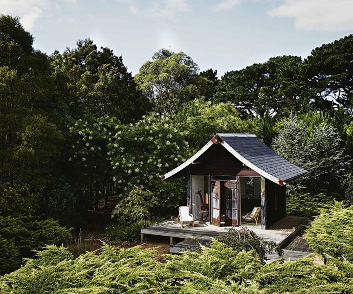 The couple often take time out to sit at the Japanese tea house and take in the surrounds.