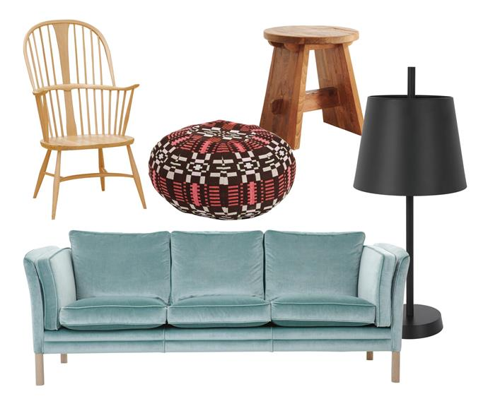 """**New collection** Tactile surfaces, artisan-made textiles and organic materials combine to create a curated home. Colourful choices add a playful touch. **Get the look** (clockwise left to right) Ercol Originals Chairmakers chair, $1950, [Temperature Design](https://furniture.temperaturedesign.com.au/