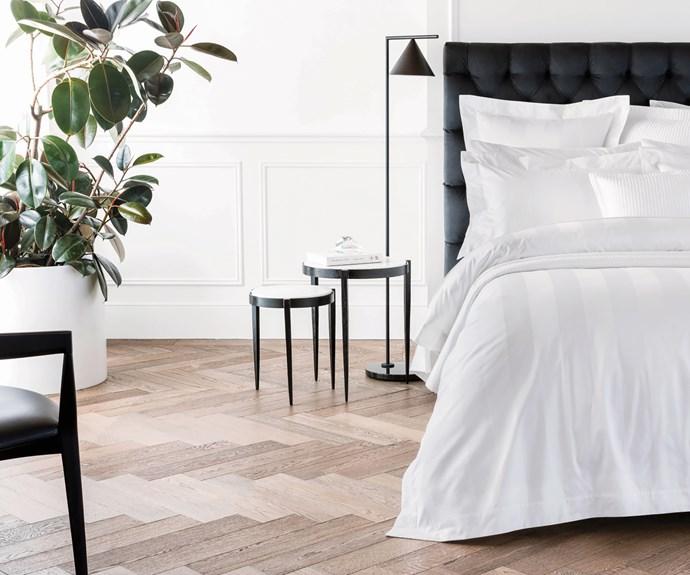 hotel style bedroom