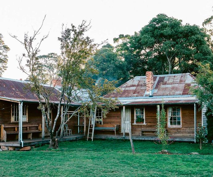 "The couple restored this side of the property, choosing to keep the rough-sawn lining boards oiled rather than painted. The left wing contains Natalie's [home studio](https://www.homestolove.com.au/12-smart-home-offices-3309|target=""_blank"") while the right wing features the Magnolia Suite."