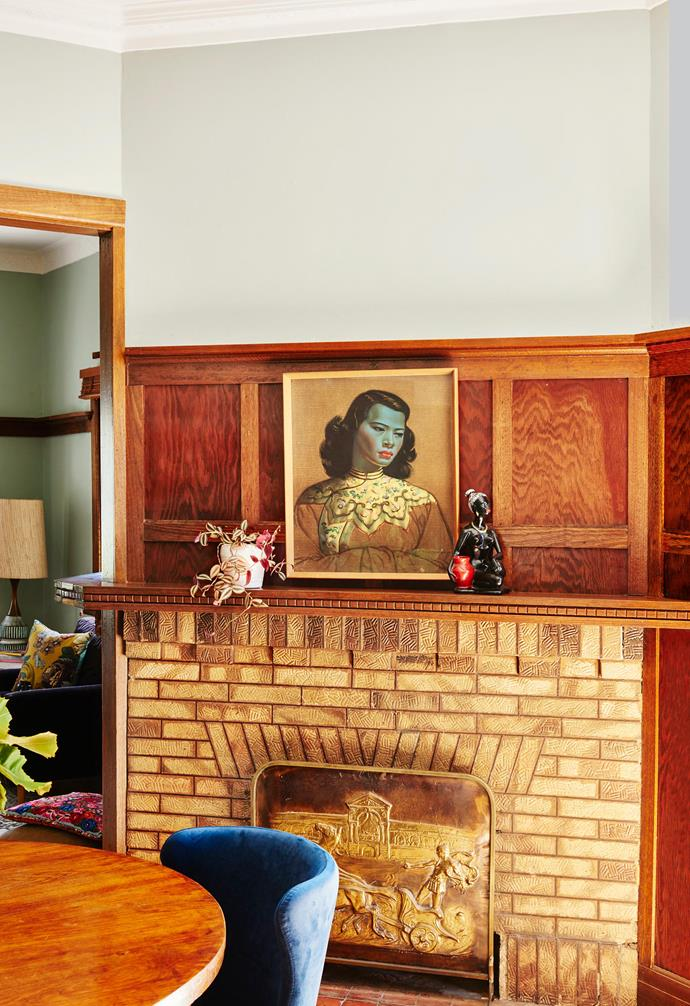"""**Star performer** Paying respect to its past, the original home's beautiful leadlight windows, decorative ceilings and exposed timber doors and architraves have been retained throughout. Black figure (on shelf), [The Amazing Mill Markets](https://www.millmarkets.com.au/ target=""""_blank"""" rel=""""nofollow"""")."""