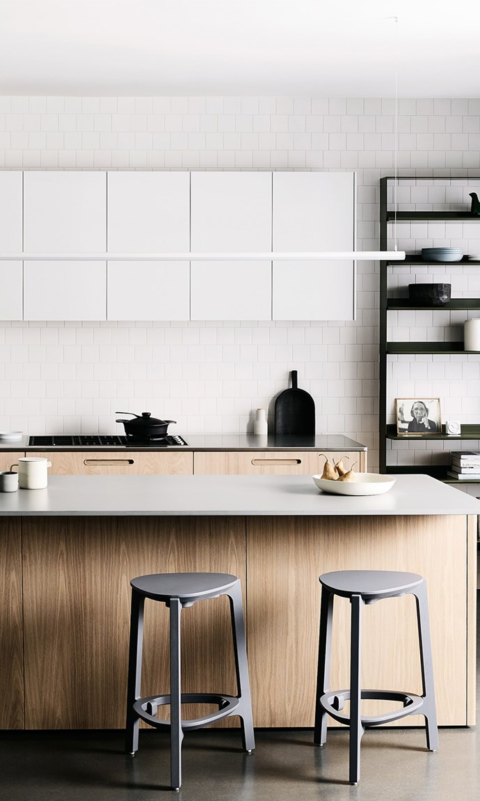 """This striking space features Cantilever's """"Tableau"""" tailored kitchen system which was designed in collaboration with DesignOffice."""