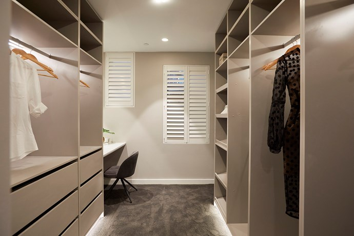 **Walk-in wardrobe** - The judges were impressed with the quality and workmanship of the master walk-in robe, particularly for its abundance of hanging space.