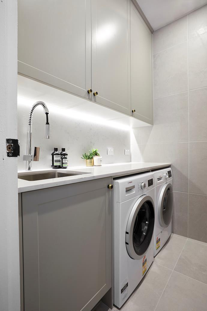 **Laundry -** This stunning space is a perfect example of how a laundry can be both practical and stylish.
