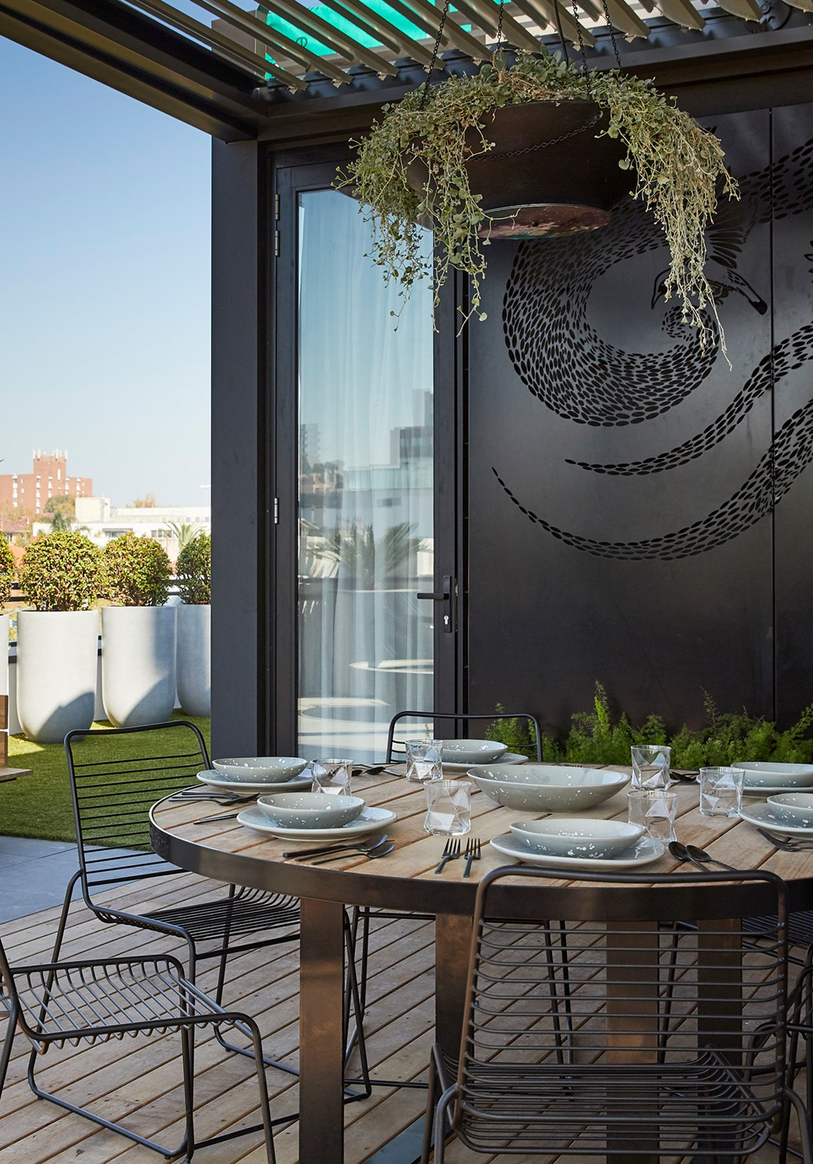 """Enjoy """"panoramic views"""" from the luxurious outdoor terrace."""