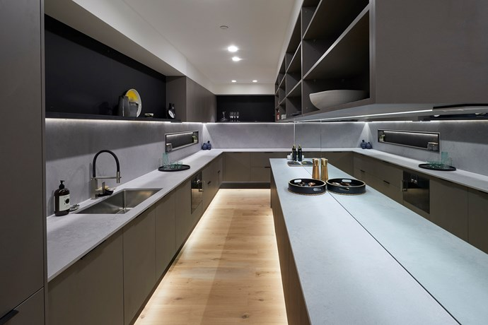 **Butler's pantry** - Equipped with integrated appliances and an endless amount of bench space, the butler's pantry was a hit with the judges who praised it's open-ended design.