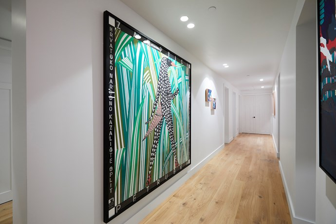 """**Hallway** - Judge Neale Whitaker was impressed by Kerrie and Spence's hallway, which has a gallery-like feel. The couple's [choice of artwork in their hallway](https://www.homestolove.com.au/the-block-2018-hallway-reveals-where-to-buy-the-artworks-19051 target=""""_blank"""") was a big hit with all three judges."""