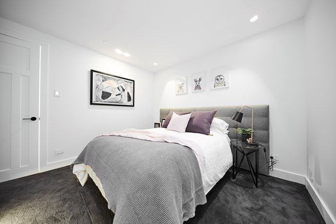 """**Second guest bedroom** - The judges were impressed by this room's layout and execution, but labelled the styling lacklustre.  On top of finishing this room, Kerrie and Spence also completed a [home office](https://www.homestolove.com.au/before-and-after-home-office-renovation-4377 target=""""_blank"""")  space that was not included in the judging. While it may not have increased their score, the home office is sure to add value to the apartment come auction day."""