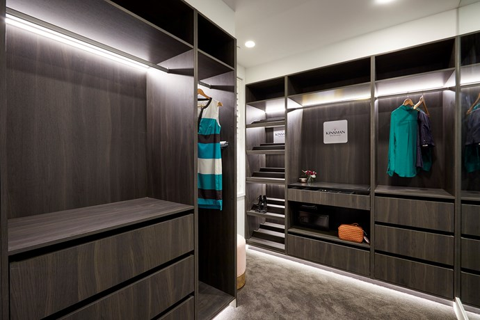 **Walk-in wardrobe** - With plenty of storage and a mature colour palette, the walk-in robe was a hit with the judges.