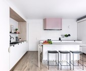 An award-winning dusty pink kitchen renovation