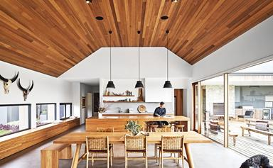 This contemporary family home in rural Victoria shows that bigger is better