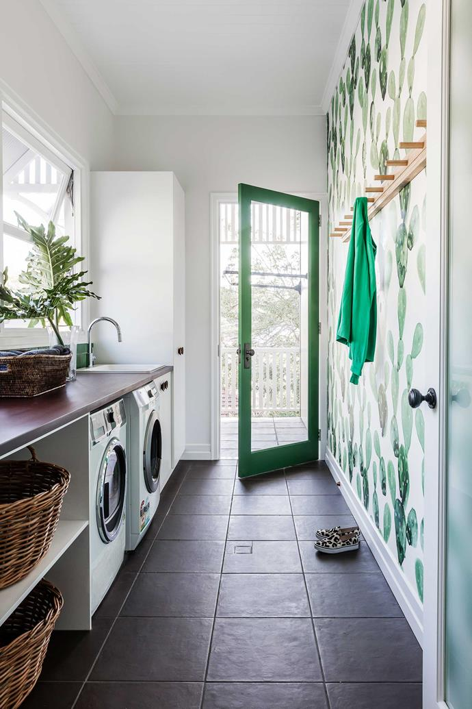 "This [small laundry](https://www.homestolove.com.au/how-to-make-a-small-laundry-room-functional-3199|target=""_blank"") has been transformed into functional space that is a delight to work in. *Photo: Maree Homer*"