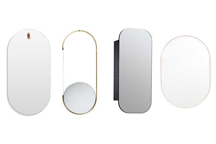 "*Left to right*: **Hanging around** A solid walnut peg will keep it in place. 'Hang 1' capsule mirror, $399, [Blu Dot](https://www.bludot.com.au/|target=""_blank""