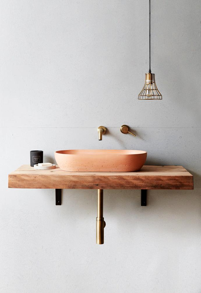"**Super star** Making a statement with the sink doesn't have to be too dramatic - experiment with soft colour options, textures, and shapes. *Image courtesy of [Concrete Nation](https://www.concretenation.com.au/|target=""_blank""