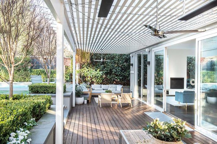 Awnings are a great way to shade your outdoor living space without completely blocking out sunlight. *Photo: Anna Robinson*
