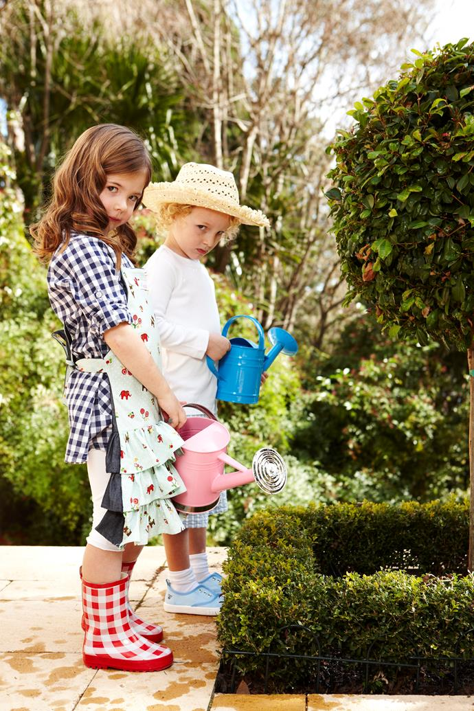 Getting kids busy in the garden from an early age will teach them about caring for the environment and conserving water. *Photo: Paul Seusse / bauersyndication.com.au*