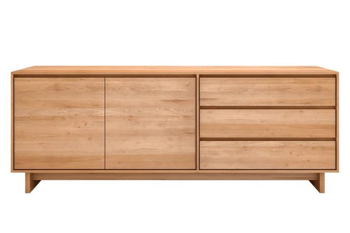 "Ethnicraft Oak 'Wave' sideboard, $3150, [Clickon Furniture](https://www.clickonfurniture.com.au/|target=""_blank""