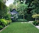 A backyard garden designed for outdoor living