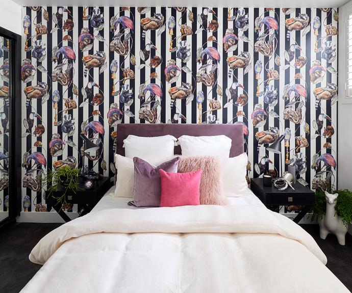 **Courtney and Hans** The quirky House of Hackney wallpaper is the hero of this room.