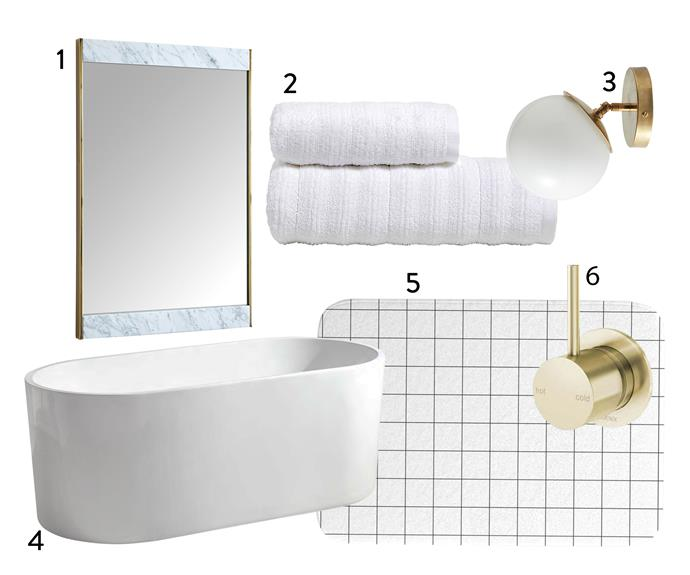 "1. Marble and brass **wall mirror**, $599, from [West Elm](http://www.westelm.com.au/marble-brass-wall-mirror-h2900|target=""_blank""