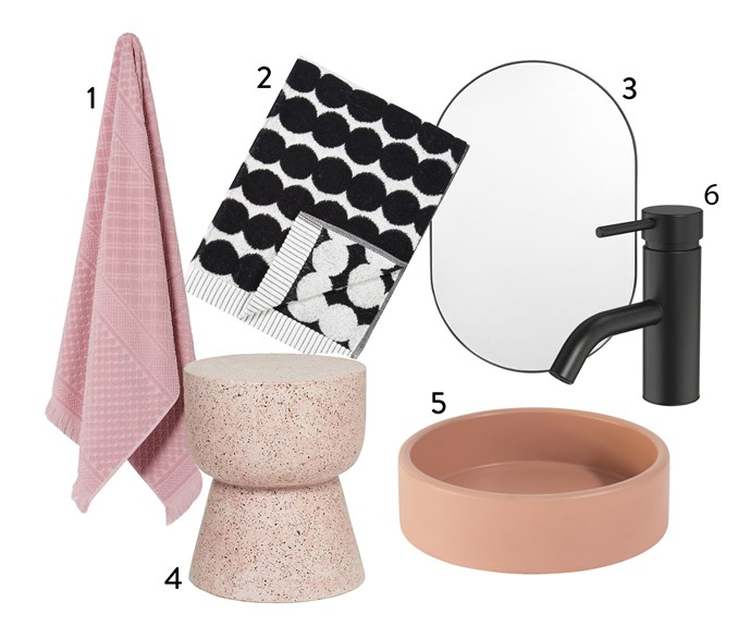 "1. Home Republic 'quick dry' **bath towel** in rose, $29.99, from [Adairs](https://www.adairs.com.au/|target=""_blank""