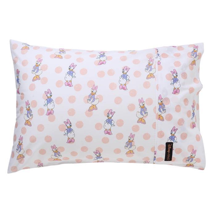 Disney X Kip&Co Daisy Dot Pink Single Pillowcase, $35