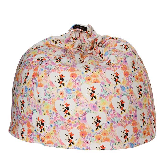 Disney X Kip&Co Minnie Floral Canvas Beanbag, $139