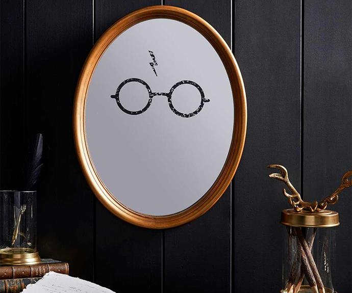 """Harry Potter™ Gold Wizard Mirror, $99.00, [Pottery Barn Kids](http://www.potterybarnkids.com.au/