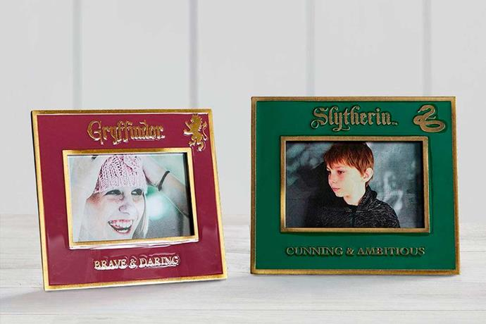 """Harry Potter™ Gryffindor™ and Slytherin™ Picture Frame, $39.00 each, [Pottery Barn Kids](http://www.potterybarnkids.com.au/