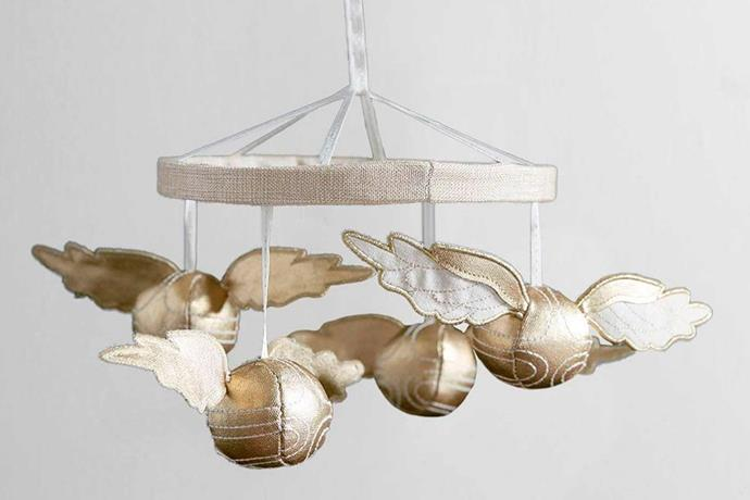 """Harry Potter, ™ Snitch Mobile, $79.00, [Pottery Barn Kids](http://www.potterybarnkids.com.au/