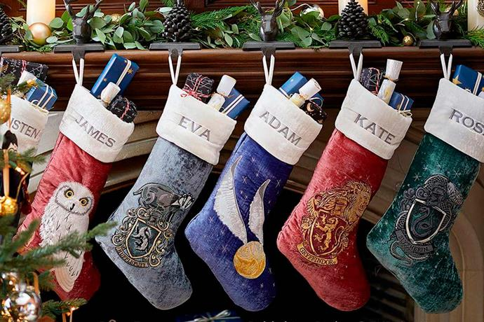 """Harry Potter™ Stocking Collection, $54.00 each, [Pottery Barn Kids](http://www.potterybarnkids.com.au/