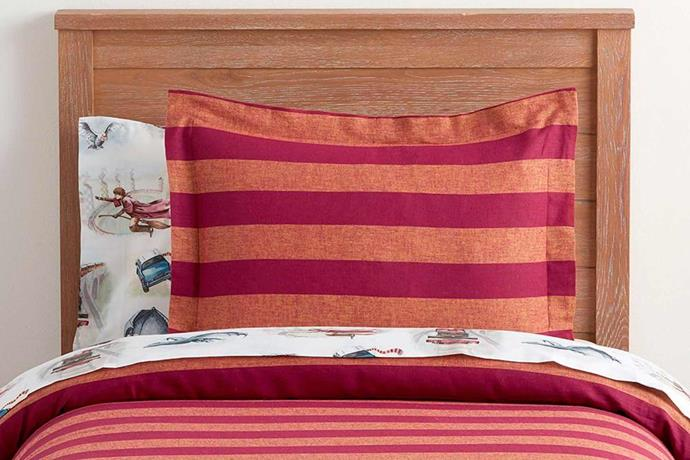 """Harry Potter™ Striped Quilt Cover, $39.00 - $159.00, [Pottery Barn Kids](http://www.potterybarnkids.com.au/
