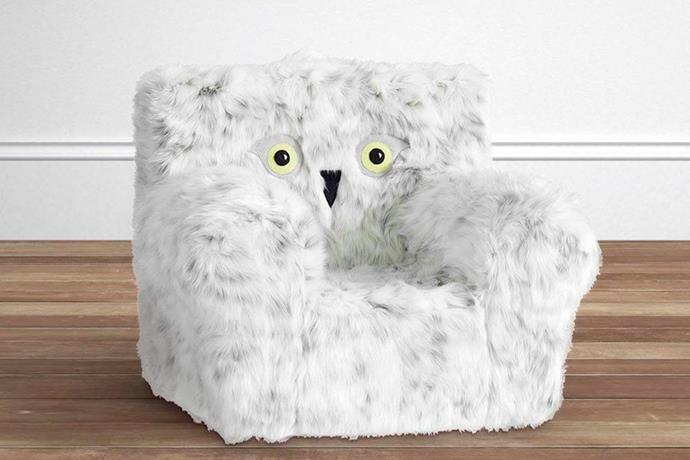 """Harry Potter™ Ivory Hedwig Anywhere Chair®, $159.00 - $268.00, [Pottery Barn Kids](http://www.potterybarnkids.com.au/