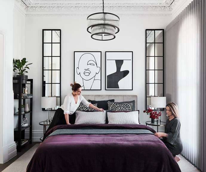 """**Alisa and Lysandra** The design duo working their magic in their [new Albert Park project](https://thedesignduo.com.au/