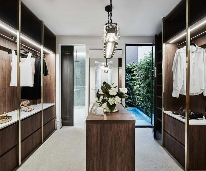 **Wardrobe** This open display wardrobe adds a touch of luxury to the home,.