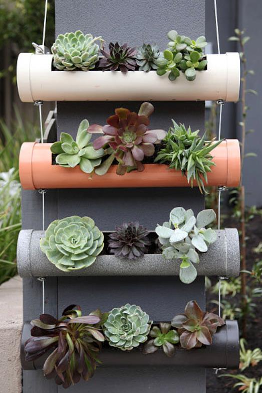 **Step 16: Hang your planter:** Find a perfect place to hang your new creation and enjoy! If hanging on a brick wall use an appropriate masonry anchor or if against timber, use a simple wood screw. Remember to use galvanised fixings to provide weather protection.