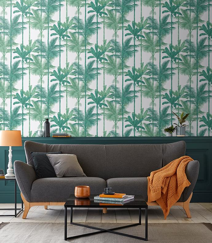 "Welcome to the jungle! Jungle Luscious Green Wallpaper $130 a roll, [Graham & Brown](https://fave.co/2yHpXM3|target=""_blank"")."