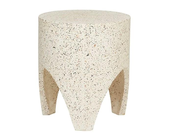 "'Terrazzo Tooth' stool, $350, [Fenton & Fenton](https://www.fentonandfenton.com.au/|target=""_blank""|rel=""nofollow"")."