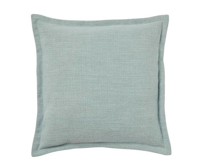 "'Austin' cushion in Seafoam, $49.95, [Weave](http://weavehome.com.au/|target=""_blank""|rel=""nofollow"")."