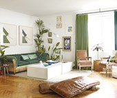 Living in green: step inside this jungle-inspired French apartment