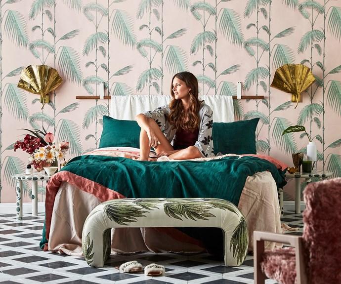palm tree print wallpaper