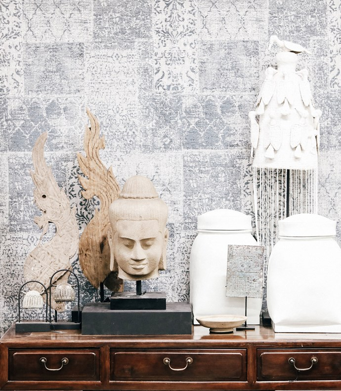 Select objects for beauty and the interest they can add to a room. A bust will inject instant glamour into any collection of curated objects, says Melissa.